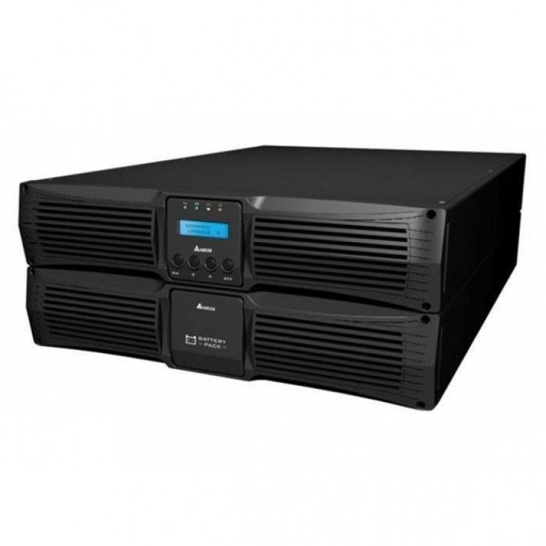 ИБП DELTA RT-Series 10 кВА/10 кВт, 20x9Ah, 5U, 6xC13, 5xC19, сервисный байпас, RT 10kVA S