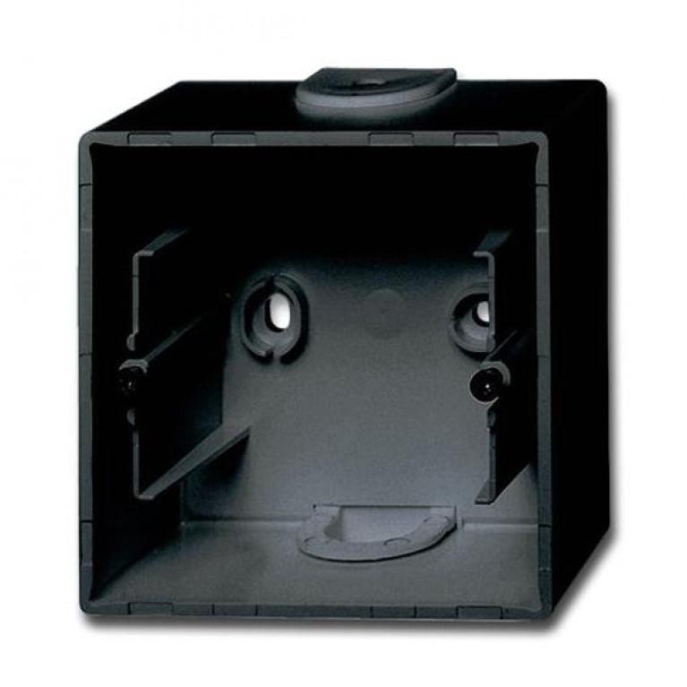 1799-0-0965 Basic55 Коробка 1-ная для накладного монтажа, château-black