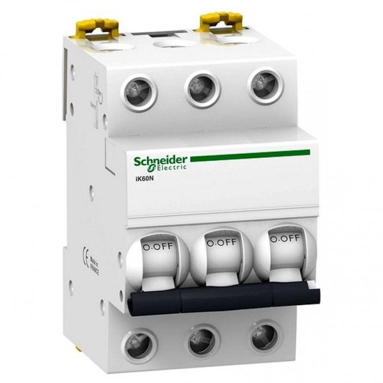 Автоматический выключатель Schneider Electric Acti9 3P 10А (C) 6кА, A9K24310