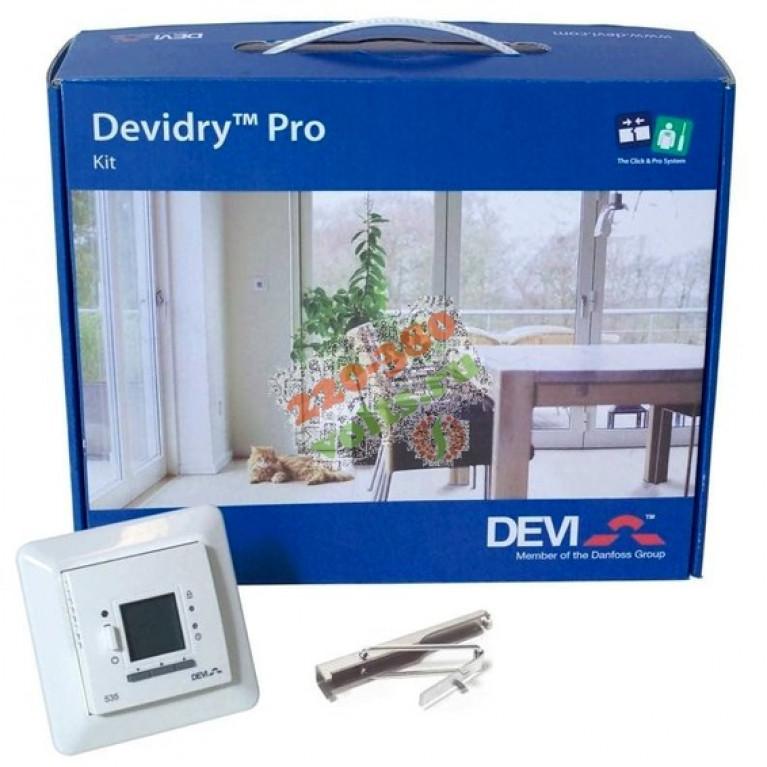 DEVIdry™ Pro Kit 55 Комплект: DEVIreg™ 535 + соединит.кабель 3 м.,10А + ключ для разъемов + алюм.скотч