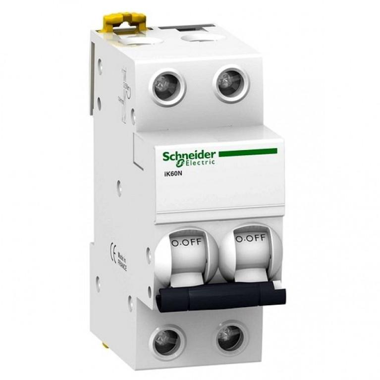 Автоматический выключатель Schneider Electric Acti9 2P 10А (C) 6кА, A9K24210