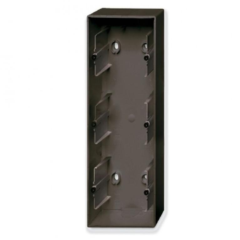 1799-0-0967 Basic55 Коробка 3-ная для накладного монтажа, château-black