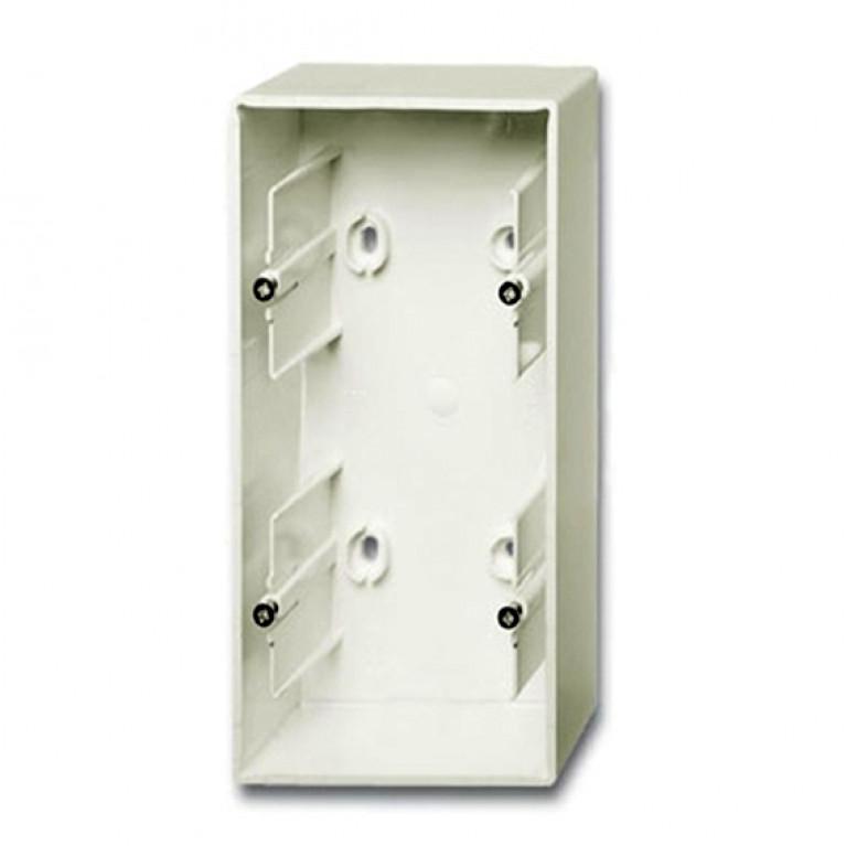 1799-0-0969 Коробка для накладного монтажа, 2-постовая, серия Basic 55, цвет chalet-white